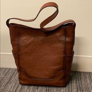 NWT FRYE Leather Side Pocket Hobo Shoulder Bag